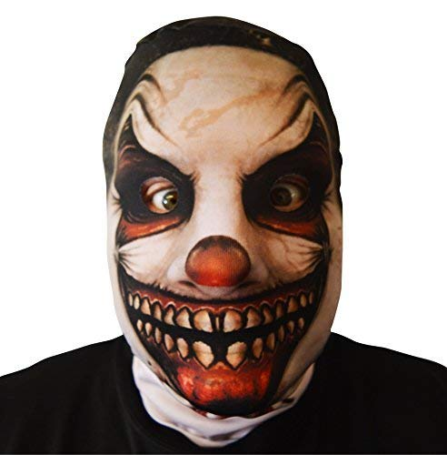 GNS 3D Effekt Zerrissene Grins Killer Clown Gesicht Haut Sensenmann Halloween Horror Maske hergestellt in Yorkshire ()