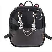 Ita Anime Backpack Kawaii Candy Ears Pin Backpack Transparent School Bag