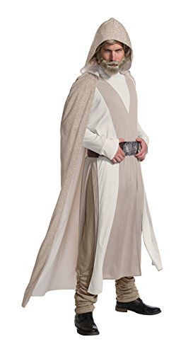 Kostüm Wars Luke Star Skywalker - Rubie's 820700 Star Wars Kostüm Luke Skywalker Deluxe Fasching Filmheld (M/L), Beige
