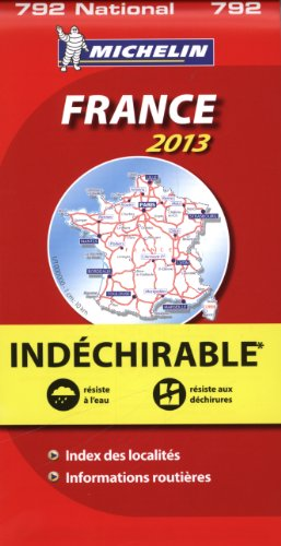 Carte France Indechirable Michelin 2013