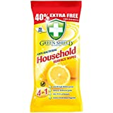 Greenshield Anti Bacterial Household Surface 70 Wipes Pack,40% Extra free