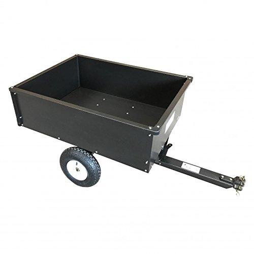 Remolque para tractores cortacéspedes, cortacéspedes con asiento o quads.De acero pintado, le permite transportar de todo en el jardín: madera, tierra, herramientas, plantas.Este remolque es resistente, ligero y fácil de limpiar.Con una carga útil de...