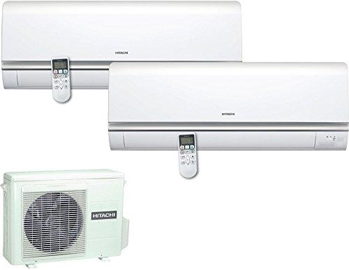 Climatiseur fixe Hitachi ram18qh2a + ras10qha + ras14qha chauffage à + refroidissement à + + Capacité de refroidissement 9000+ 12000BTU/h