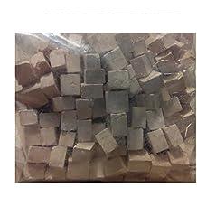 Pack 150 gramos piedra cuadrada blanca miniatura para maquetas. CUIT 2972