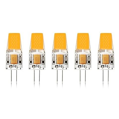 Ascher 5er Pack G4 LED 3W Lampe - vgl. 30W Halogen - 300 Lumen - G4 LED Warmweiß - AC/DC 12V- LED Leuchtmittel