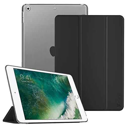Fintie iPad 9.7 Zoll 2018/2017 Hülle - Ultradünn Superleicht Schutzhülle mit transparenter Rückseite Abdeckung Cover Case mit Auto Schlaf/Wach Funktion für Apple iPad 9,7'' 2018/2017, Schwarz