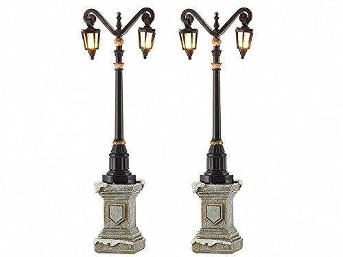 Luville - Set de 2 lampadaires lumineux sur piles