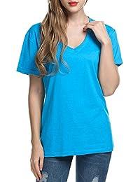 Meaneor Mujeres Camisetas T Shirt Manga Corta Labios Túnica Casual Blusas Camisas Tops