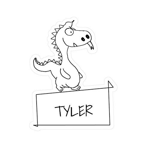 JOllipets Baby Kinder Aufkleber - Tyler - Variante: Tiere Zoo - Farbe: Design: Drache