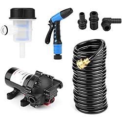 Kit de pompe de lavage, 12 V 5,5 GPM 70 PSI haute pression professionnel pour voitures, camping-cars, bateaux, yachts