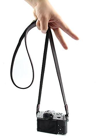 WITHLIN AdjustableHandmade Leather shoulder strap for Mirrorless Cameras Digital Dslr