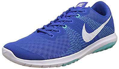 Nike Men's Nike Flex Fury Gm Ryl, White, Dp Ryl Bl and Lght Aq Running Shoes - 7 UK/India (41 EU)(8 US)