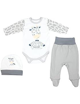 TupTam Unisex Baby Bekleidungsset mit Aufdruck 3 TLG.