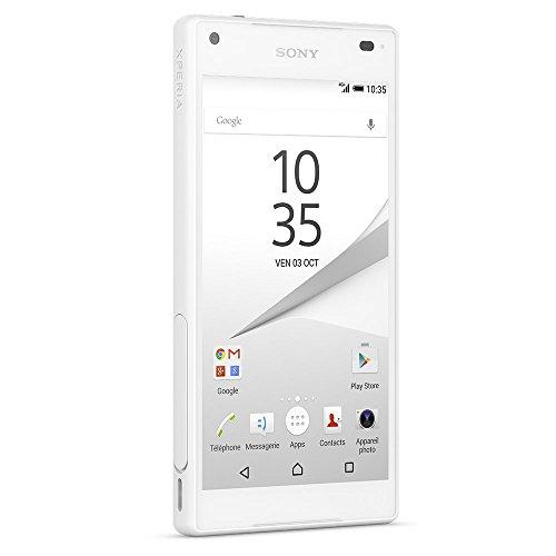 Sony Xperia Z5 Compact Smartphone débloqué 4G (Ecran: 4.6 pouces - 32 Go - Simple Nano-SIM - Android 5.1 Lollipop) Blanc