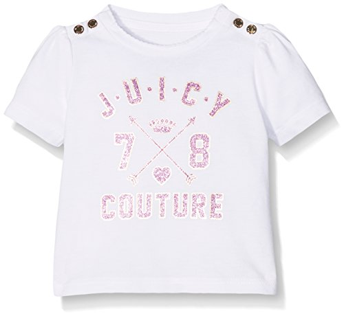 juicy-couture-logo-78-ss-tee-camiseta-para-bebs-white-12-18-meses-talla-del-fabricante12-18
