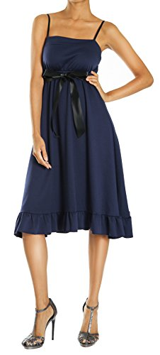 Bestyledberlin Robe pour femme, robe à bretelles, blanche, brune, grise Rouge