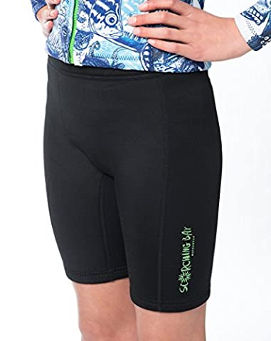 WETSUIT SHORTS/PANT ULTA-STRETCH, DOUBLE LAYERED, LUXURIOUS, BOUTIQUE DESIGNS FOR KIDS YOUTH (Med (10-12y))