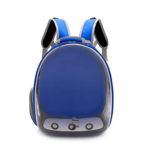 LoveIyPet Pet Bag Cat Bag Out Tragbare Pet Space Bag Pet Doppel Schulter Panorama Transparent Pet Bag (Color : Blue) - Panorama Pc