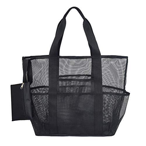 LIOOBO Dusche Caddy Tote Bag Mesh-Taschen hängen Bad Organizer Aufbewahrungstasche (Hängende Dusche Caddies)
