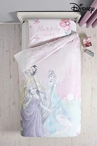 Style it up set di biancheria da letto ufficiale disney fairy/princess, per bambine, per letto singolo, disney princess soliss, singolo