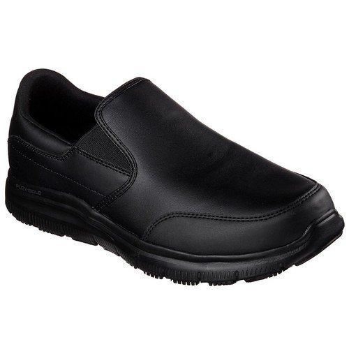 Skechers Mens Flex Advantage Slip Resistant Bronwood Slip on Shoes