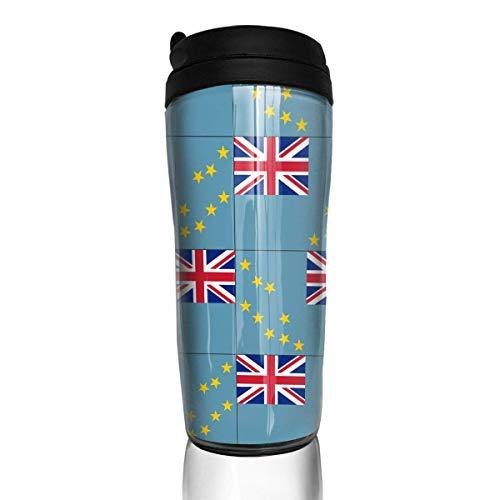 Travel Coffee Mug Originality Tuvalu Flag 12 Oz Spill Proof Flip Lid Water Bottle Environmental Protection Material ABS - Tuvalu Cap