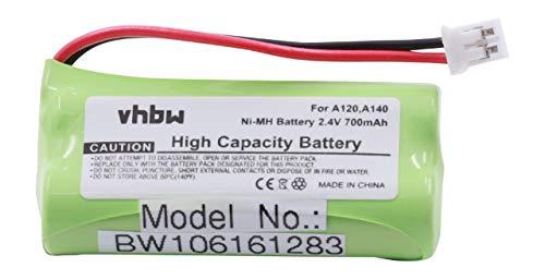 Vhbw NiMH batería 700mAh 2.4V para teléfono
