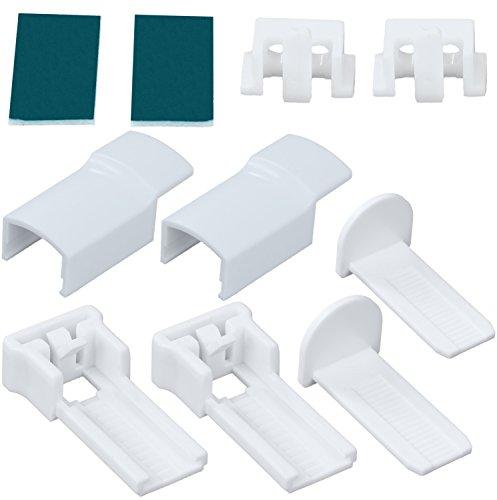 Ersatz Befestigungsset für Plissee verspannt mit Klemmträgern (Plissee-ersatz)