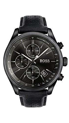 Hugo BOSS Homme Chronographe Quartz Montre avec Bracelet en Cuir 1513474