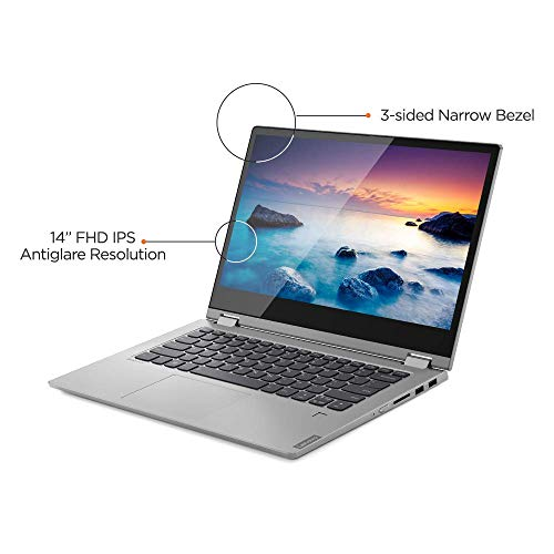 Lenovo Ideapad C340 8th Gen Intel Core i5 14 inch FHD 2 in 1 Convertible Laptop (8GB RAM/1TB SSD/Windows 10/MS Workplace/Platinum/1.65Kg), 81N400JMIN Image 4