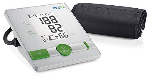 Pulsfrequenz Blutdruck (DigiO2 BPC-101 Digitales Oberarm-Blutdruckmessgerät)