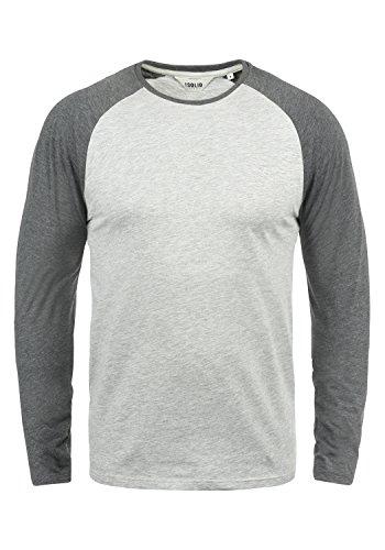 !Solid Bastien Herren Longsleeve Langarmshirt Shirt Mit Rundhalskragen, Größe:XL, Farbe:Light Grey Melange (8242)