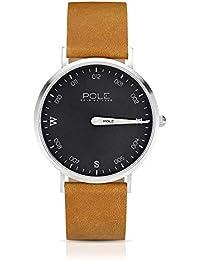 3362288e5697 Pole Watches - Drab - Reloj Analógico de Cuarzo para Hombres con Esfera  Plomo y Correa