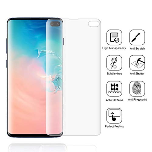 AE Bei Displayschutzfolie für Samsung S10 Plus Clear Soft Hydrogel Folie TPU Screen Protector 6.1 Zoll