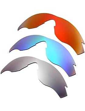 Hkuco Plus Mens Replacement Lenses For Oakley M2 Red/Blue/Titanium Sunglasses