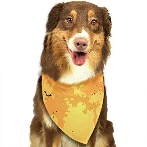 Wfispiy Hund Bandana Haustier Schal Halloween Kürbis Classic Pet Bandana Haustier Halsbänder für Hund Katze eine Größe