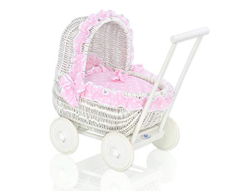 Baby Carriages & Buggies Adaptable 2 Vintage Style Baby Doll Stroller Wicker Wood Metal Carriage Buggy Toy High Resilience Home & Hearth