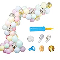 Balloon Garland Arch Kits Party Balloons 110 PCS with 16Ft Balloon Strip Tape, Macaron Colorful Balloon Sets Background Decorations for Party, Birthday, Proposal, Baby Shower, Ceremony and Marriage