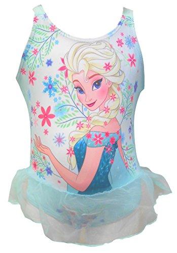 Kostüm Frozen Girl - Disney Frozen Girls Badeanzug Kostüm 6-7 Jahre