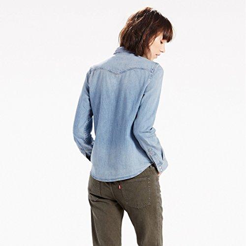 Levi's Damen Hemd Modern Western Denim Blu Chiaro