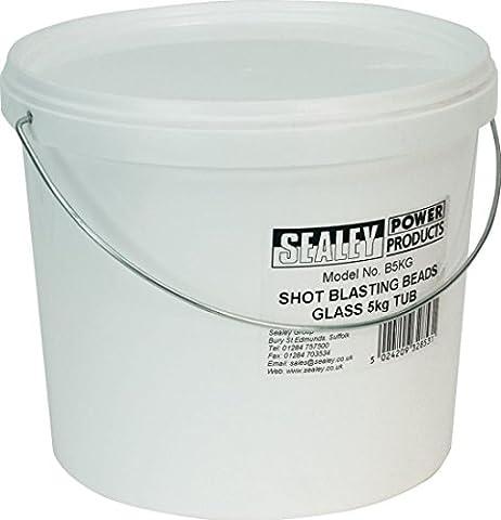 Sealey B5KG Shot sablage perles en plastique pour baignoire en Verre 5 kg