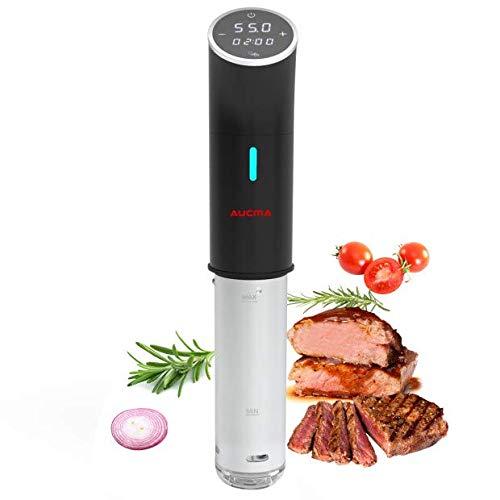 AUCMA Sous Vide Sous-Vide Garer Präzisionskochtopf Immersion Tauchzikulator, LED Touch Display, Low-Öl und fettarm, gesunde Ernährung