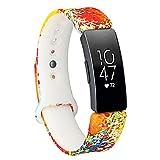 Pulsera Glowjoy Compatible con Fitbit Inspire/Inspire HR, Silicona Suave, Resistente al Agua, Repuesto, Correa de Mano, Correa de Silicona Premium, Accesorio para Smart Watch, para Hombre y Mujer