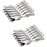 Glorious® Stainless Steel Multipurpose cloth clips (Set of 24)