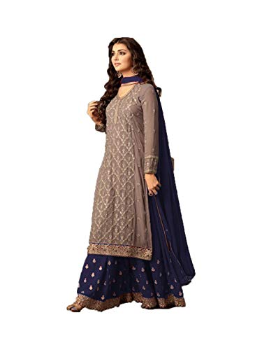 Dealbazaars Women's Anarkali Salwar Suit Heavy With Embroidery Work