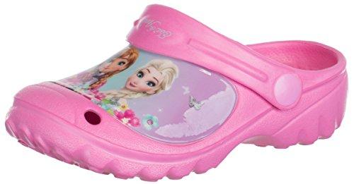 Brandsseller Kinder Disney Clogs Frozen - ELSA & Anna - Hausschuhe Gartenschuhe Badeschuhe - Farbe: Rosa - Größe: ()