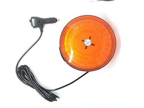 Ampoules de grande taille haute puissance Super Lumineux rond à fixation magnétique de voiture 12 V LED strobe lampe ronde de voiture Balise d'urgence avertissement Hazard lumière Ambre