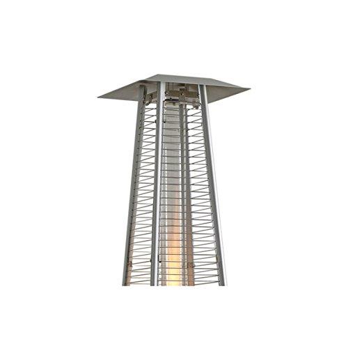 Heizpilz Gas Flamme 13kW Tube Glas Pyramidenform Heizung Außen für Terrasse + Kit Komplett Gas + Tragetasche; - 4