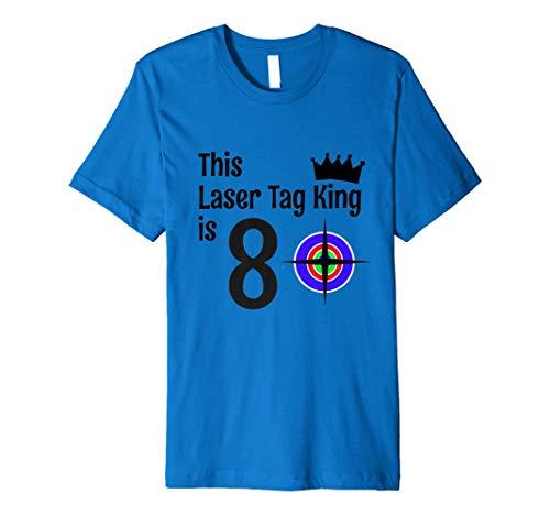 8Jahre Laser Tag King Geburtstag Party 8. Geburtstag Shirt Preisvergleich
