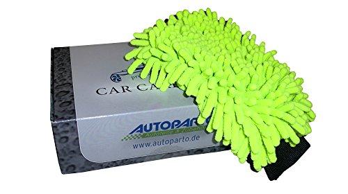 Autoparto Professional Waschhandschuh Mikrofaser mit Insektennetz